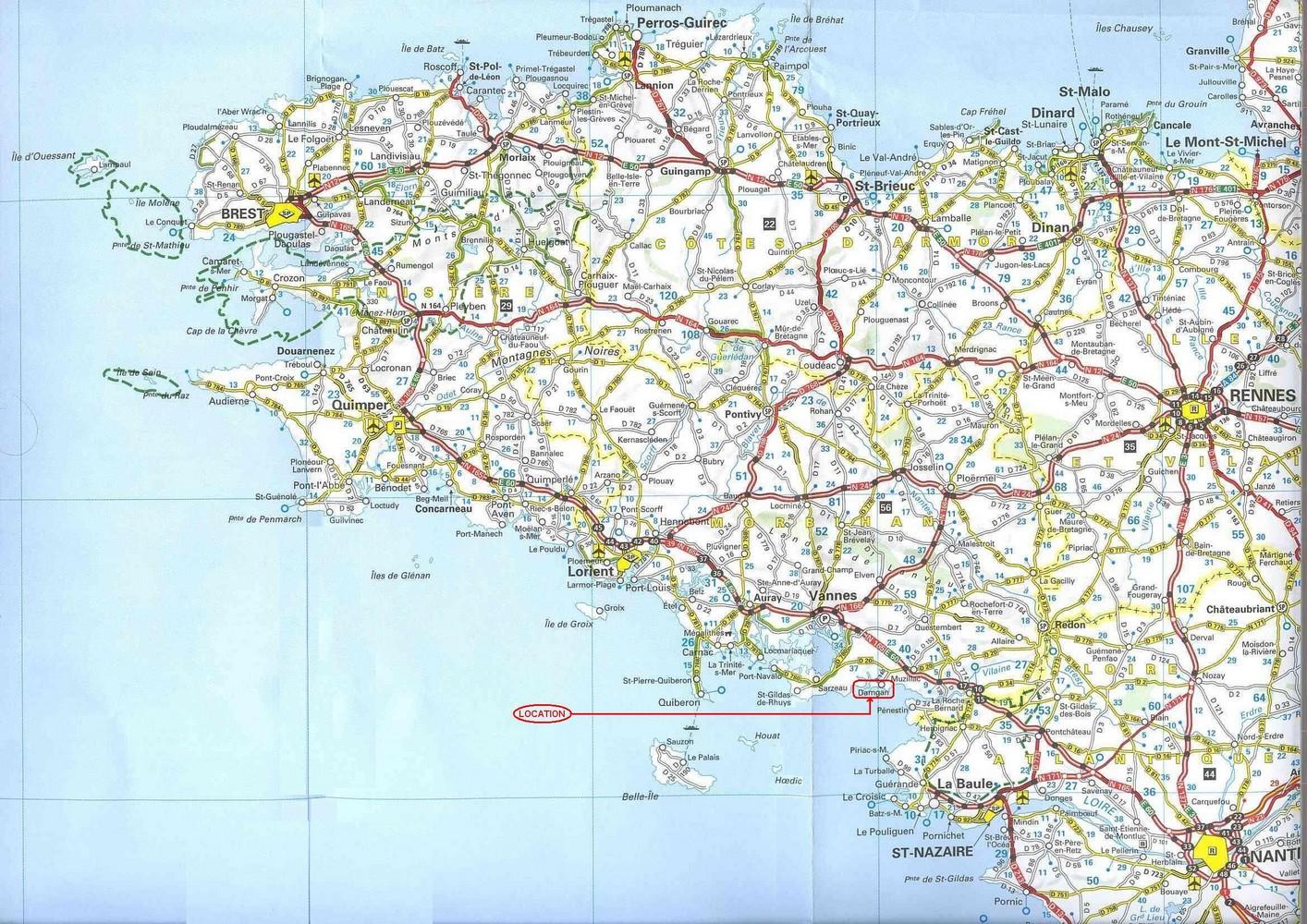 bretagne carte geographique